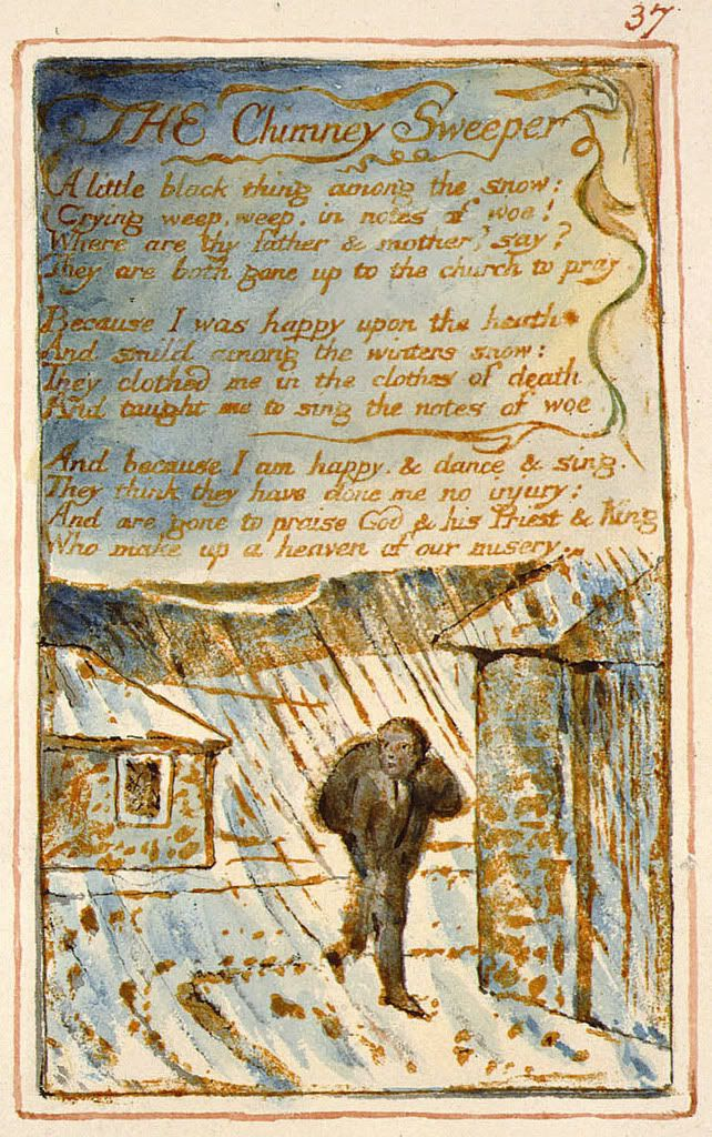 william blakes chimney sweeper poems as Extracts from this document introduction compare and contrast the chimney sweeper in songs of innocence with the chimney sweeper in songs of experience by william blake.